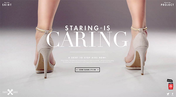 Staring is Caring in 50 Creative Full Screen Video Background Websites