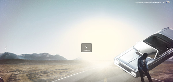 Wrangler in 50 Creative Full Screen Video Background Websites