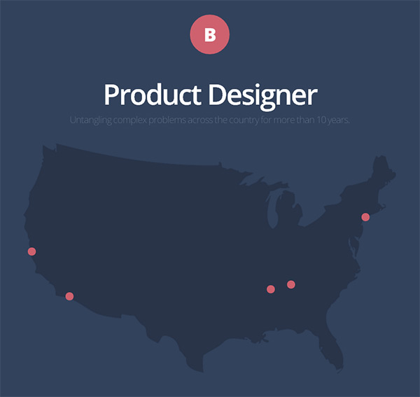 Brad Haynes in 28 Websites with Stunning Flat Design