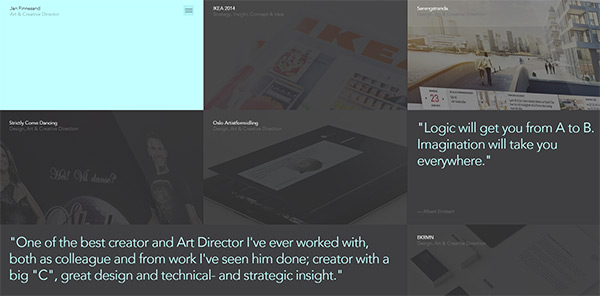 Jan Finnesand in 28 Websites with Stunning Flat Design