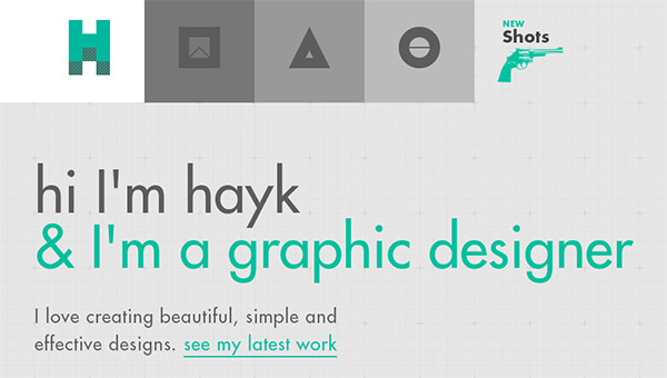 hi hayk in 28 Websites with Stunning Flat Design