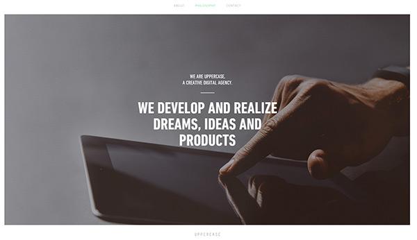 Uppercase in 45 Modern Minimal Websites