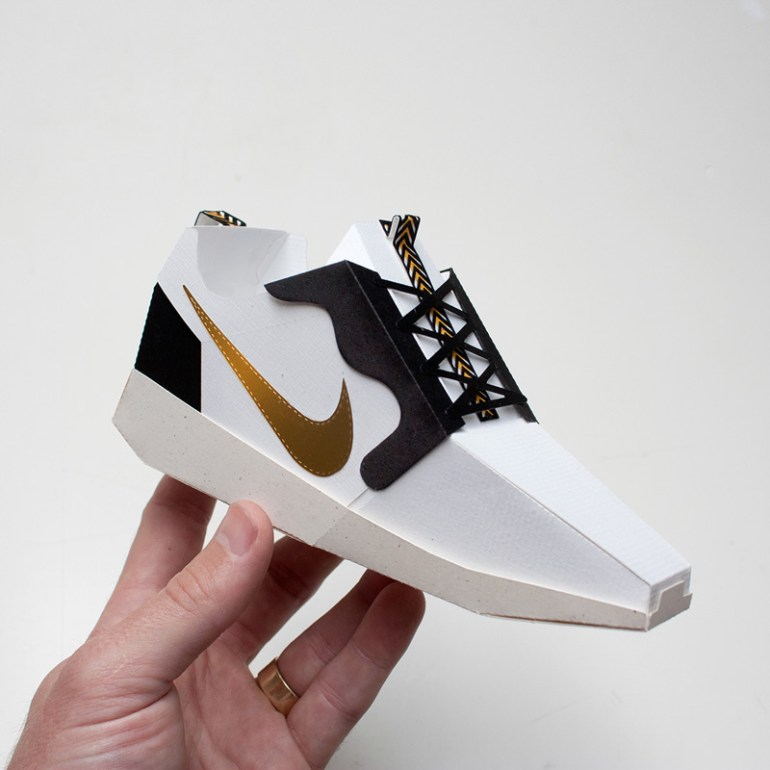Paper Sneakers by Joe Bowers in Showcase of Creative Nike Advertisements