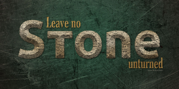 Stone Text Effect in 40 Creative Photoshop Text Effect Tutorials