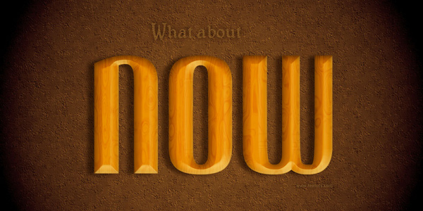 Polished Wood Text Effect in 40 Creative Photoshop Text Effect Tutorials