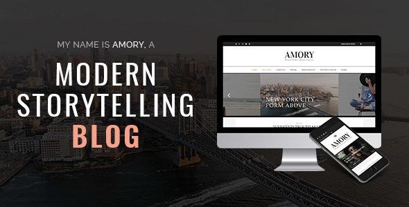 Amory Blog - A Responsive WordPress Blog Theme