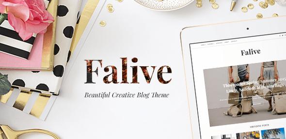 Falive - Beautiful Creative & Fashion Blog Theme