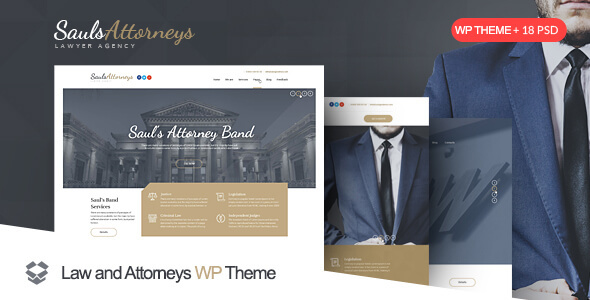 SaulsAttorneys - Lawyers & Attorneys WordPress Theme