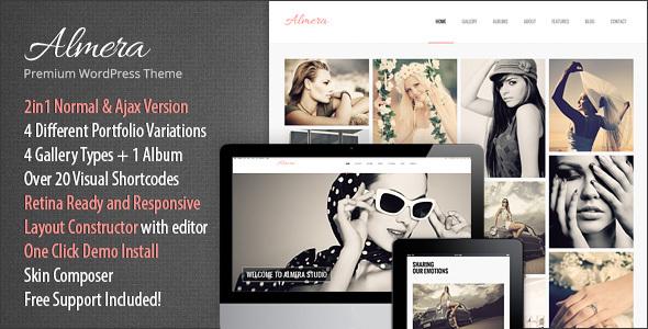 Almera   Model Agency & Photo Portfolio WordPress Theme