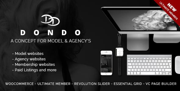 DONDO – Model & Agency Portfolio WP Theme