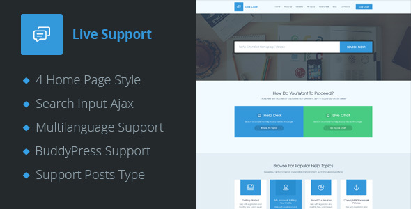 Live Support - Helpdesk Responsive WordPress Theme