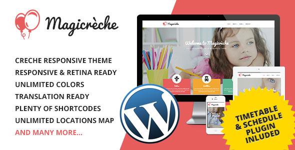 Magicreche - Responsive Crèche WordPress Theme