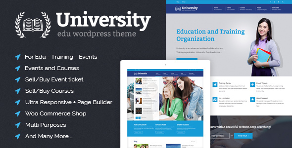 University - Education, Event and Course Theme