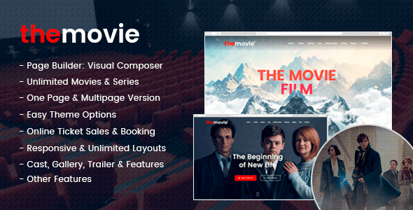 The Movie - Cinema, Film & Series WordPress Theme