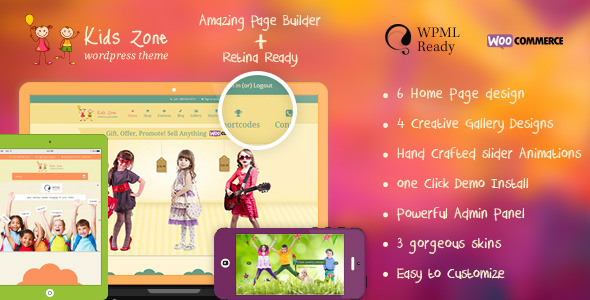 Kids Zone | Children & Kids WordPress Theme