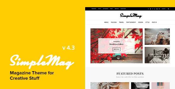 SimpleMag - Magazine theme for creative stuff
