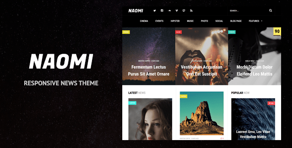 Naomi - Responsive WordPress News Theme