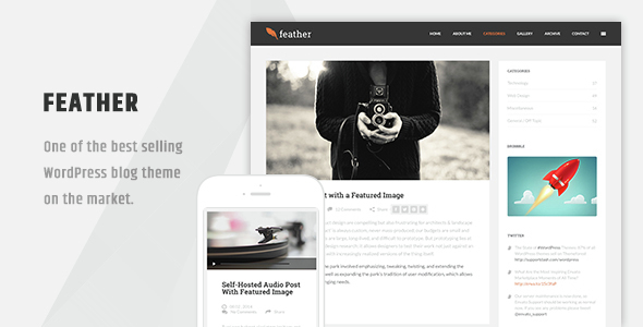 Feather - Clean Flat Responsive WordPress Blog Theme
