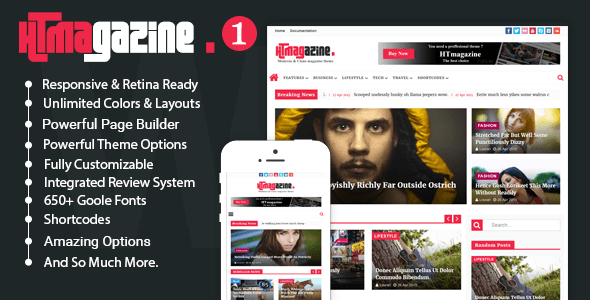 HTmagazine - Moderne Magazine,News & Blog WordPress Theme