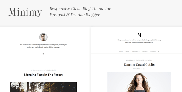 Minimy - Responsive Clean Personal & Fashion Blog