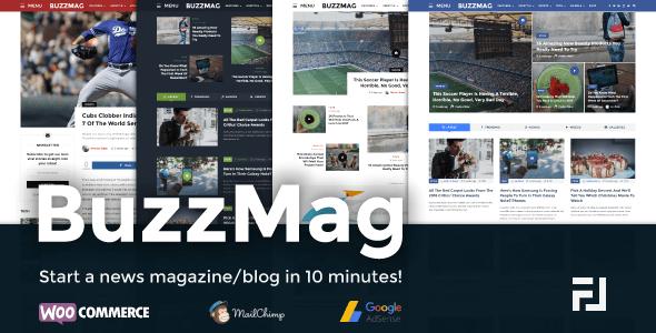 BuzzMag - Viral News WordPress Magazine/Blog Theme