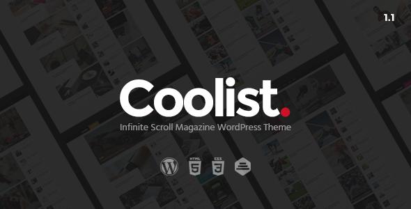 Coolist   Infinite Scroll Magazine WordPress Theme