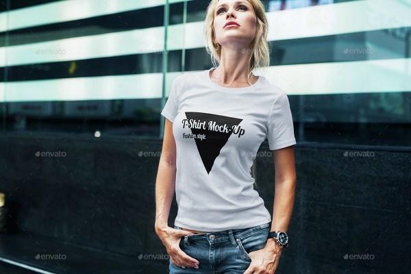 Female T-Shirt Fashion Mockup