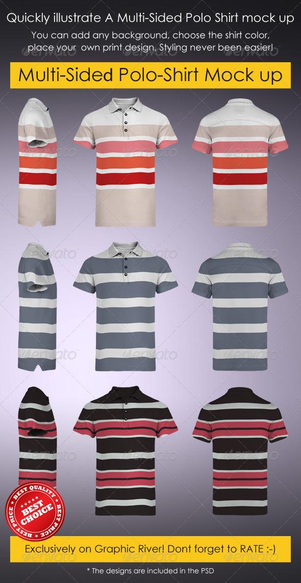 Multi-Sided Polo-Shirt Mock-Up