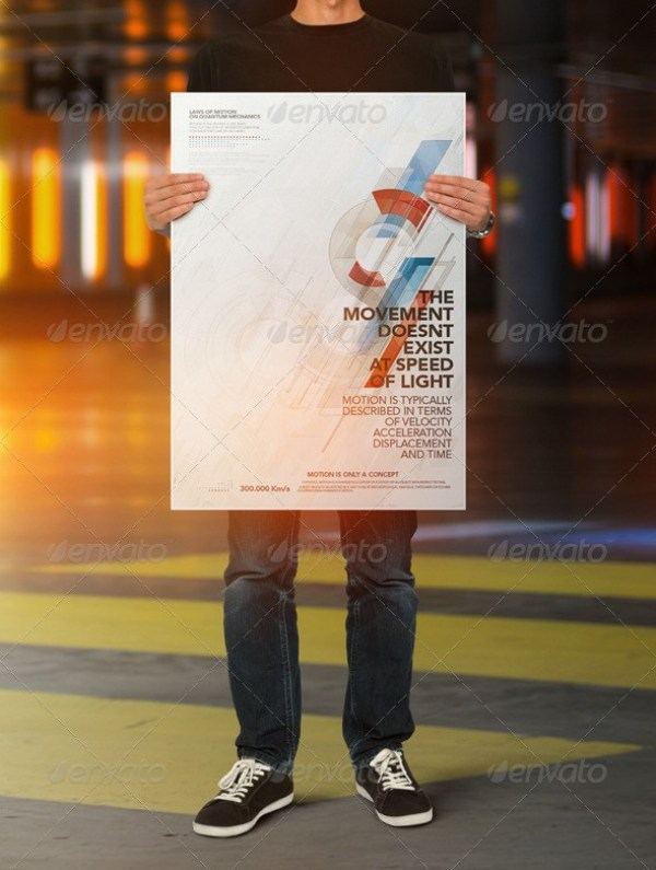 Poster Holding Mock-up