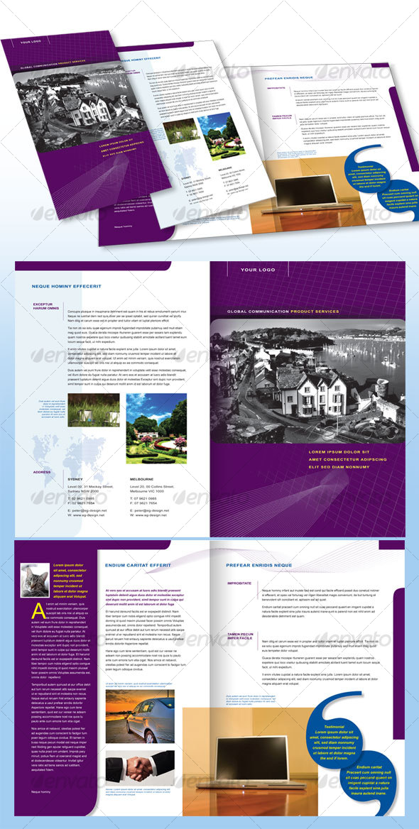 4 Pages Corporate Brochure A4