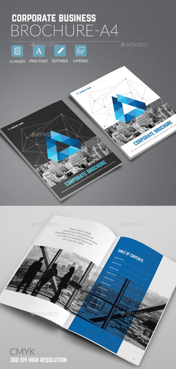 Corporate Business Brochure A4