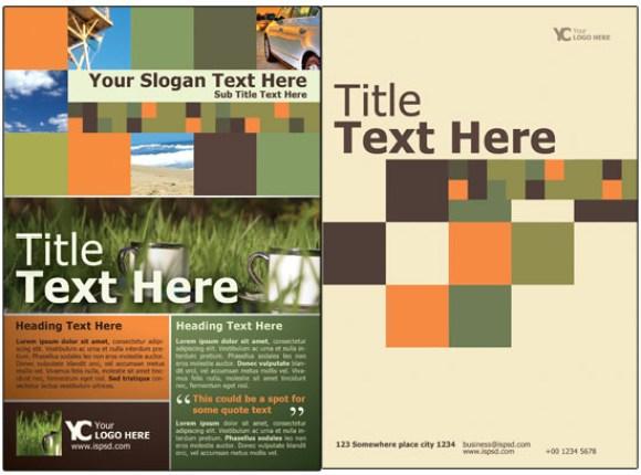 Free Bi-Fold Brochure Template PSD