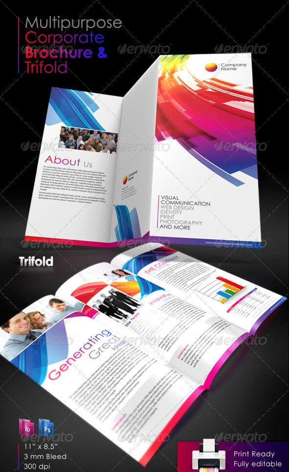 Multipurpose Corporate Tri-Fold Brochure