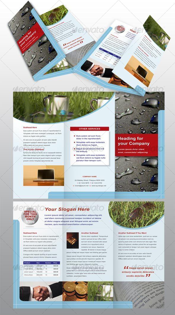 Tri-Fold Modern Brochure Template
