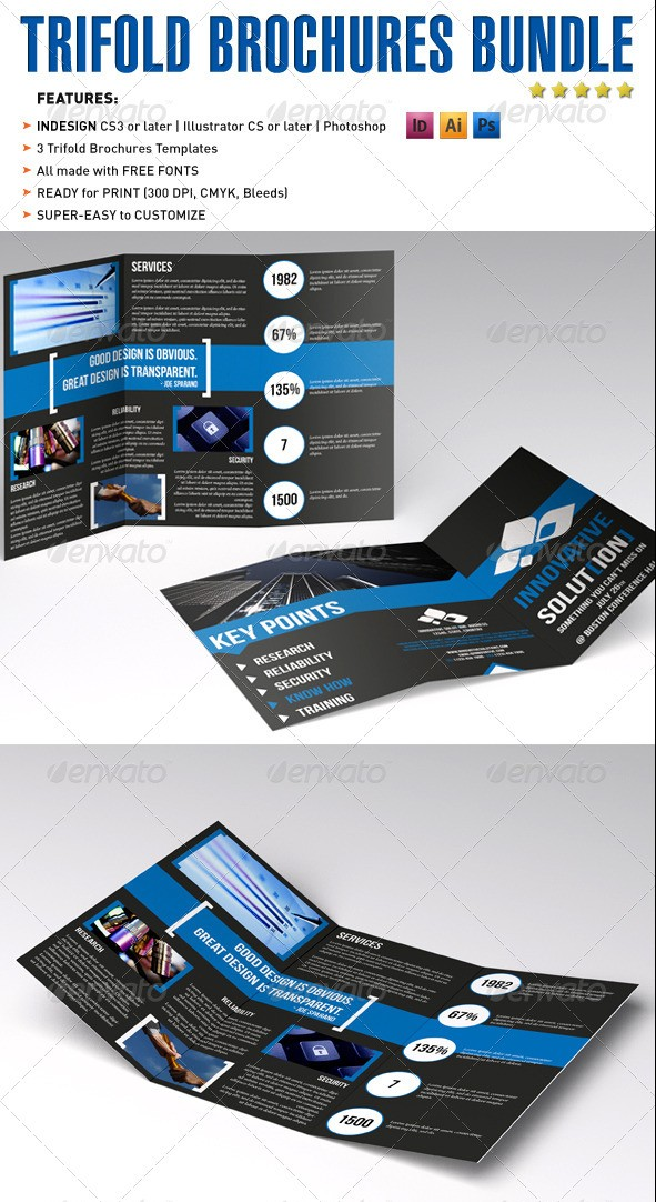 Tri-fold Brochures Bundle