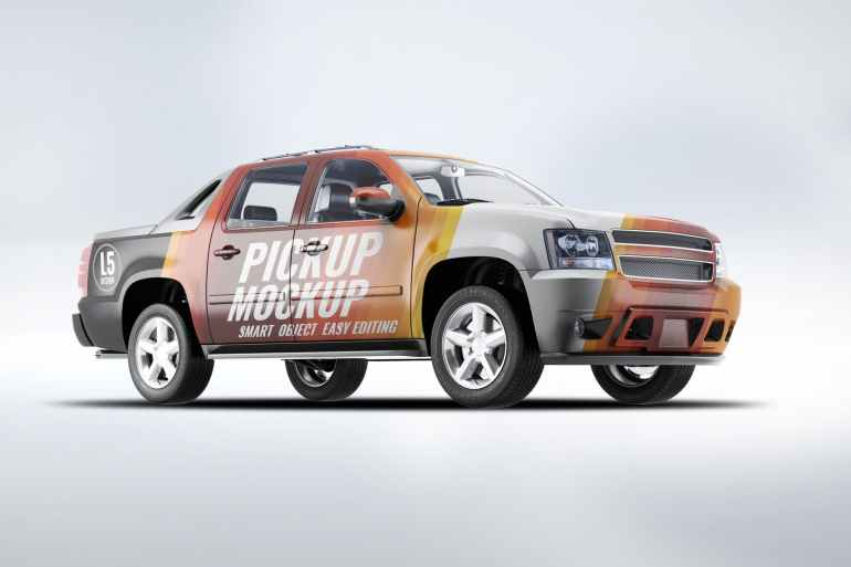 4X4 Pickup Truck Mock-Up