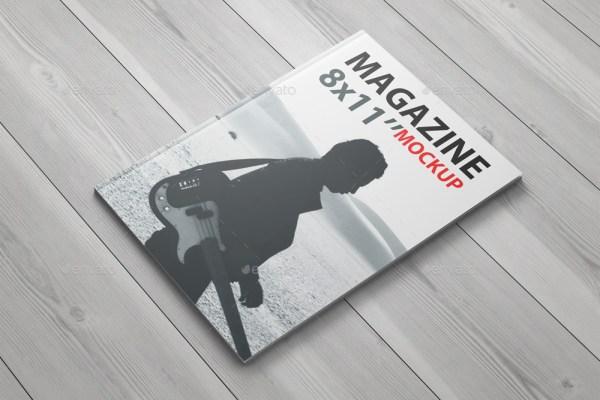 8x11 Magazine Mockup