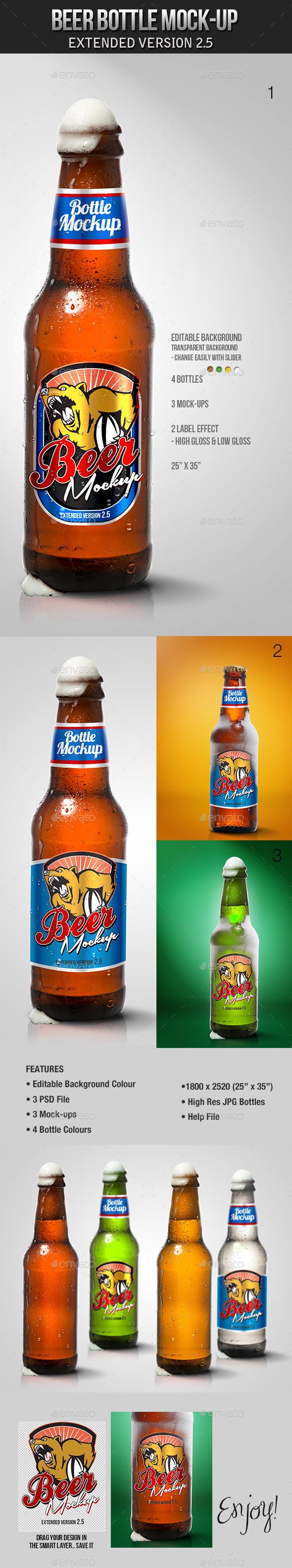 Beer Bottle Mockup V2.5
