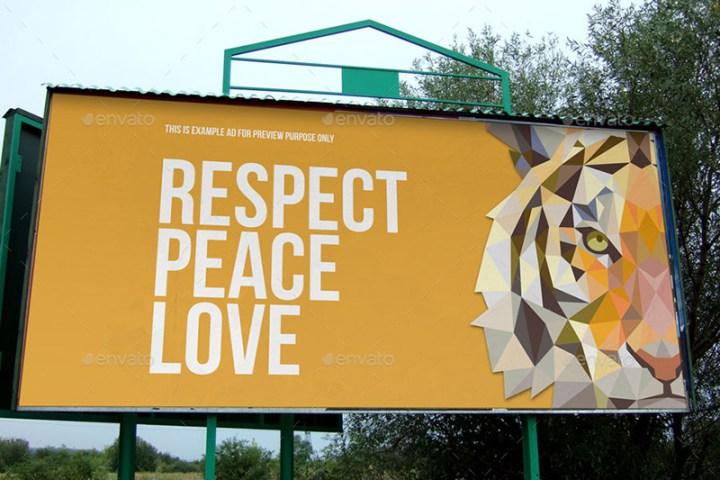 premium outdoor advertising billboard mockups psd