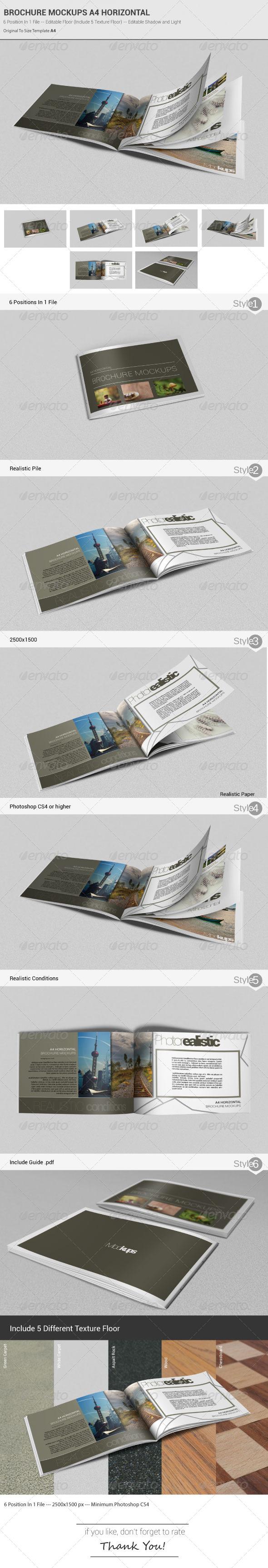 Brochure Mockups A4 Horizontal