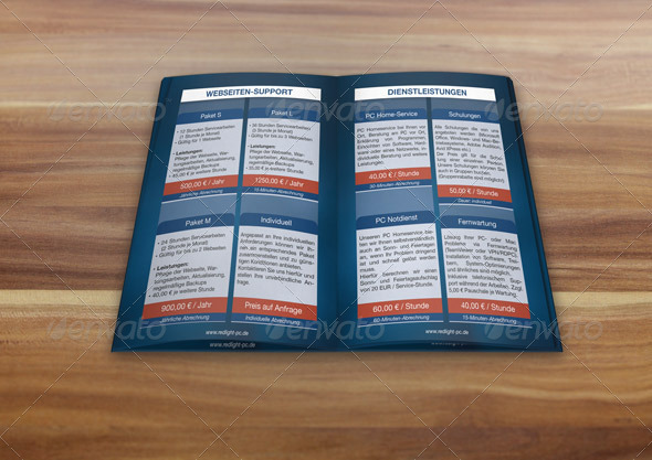Elegant Double Pages Brochure 3D Mockup