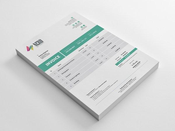 Free Invoice Template AI, EPS and PDF