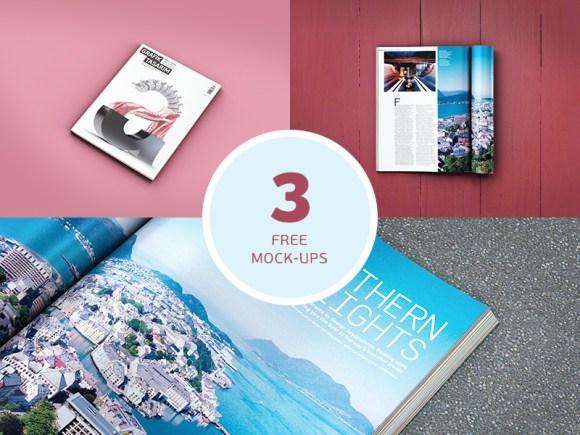 High Quality Magazine Mockups PSD