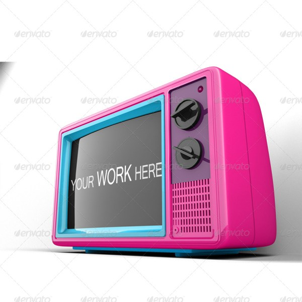Old TV Mockup Vol. 2
