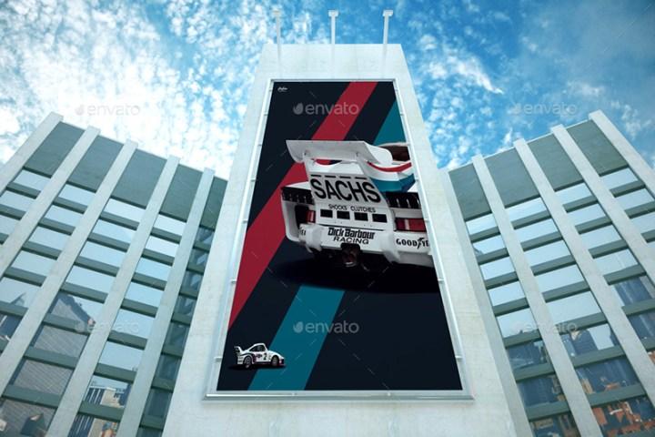 great premium outdoor advertising billboard mockups psd