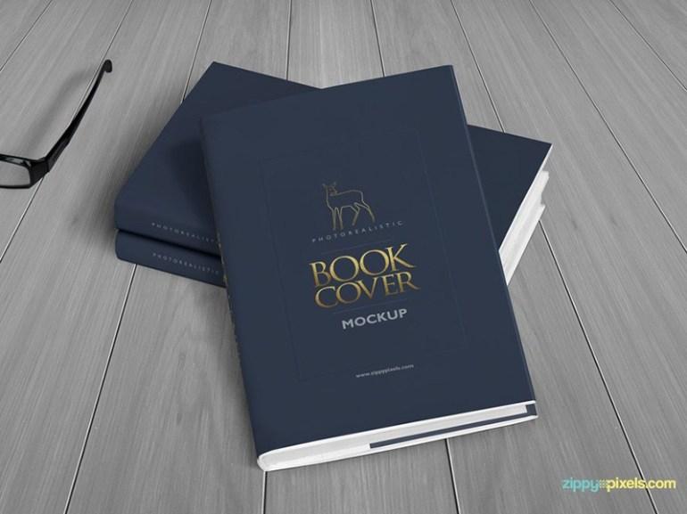 Realistic Hardcover Book Mockup - Vol 3