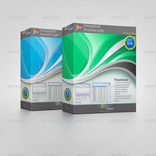 Software Display Box Mockup