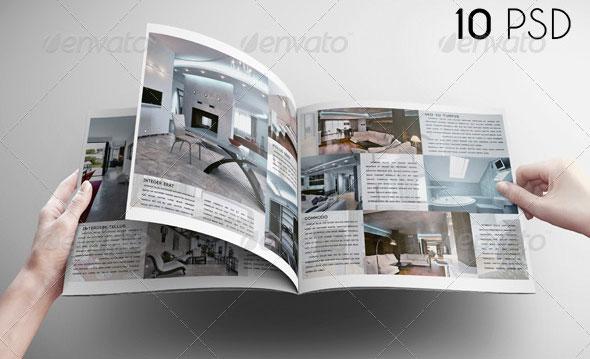 Square Brochure Mock-Up