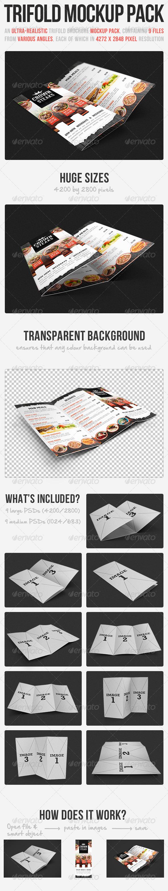 Trifold Brochure Mockup Pack