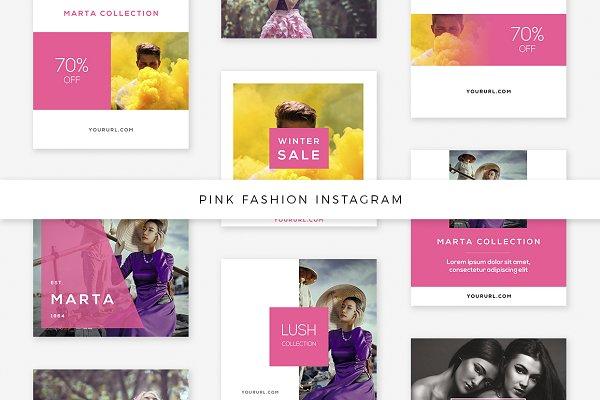 Pink Fashion Instagram Pack